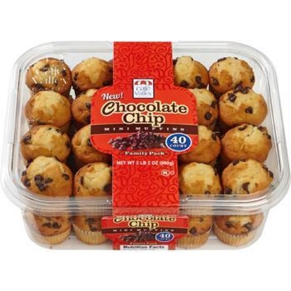 Picture of CafeValley|Chocolate chip mini muffins (40 count)