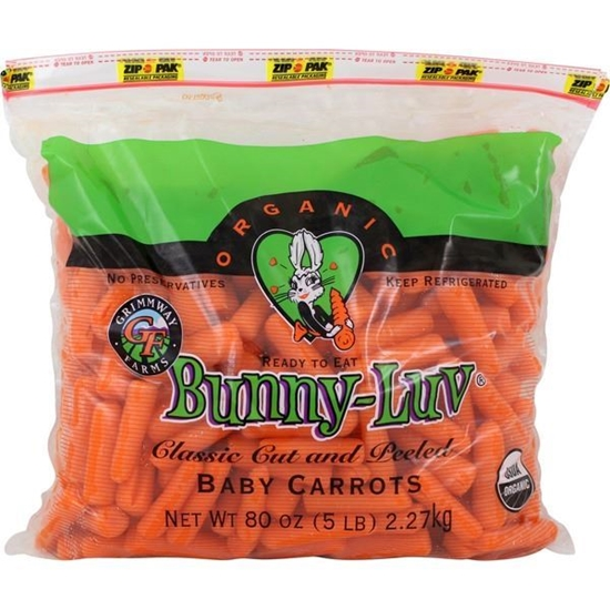 Picture of Bunny Luv Organic Baby Carrots