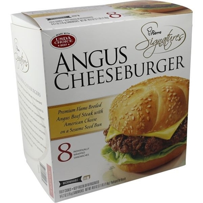 Picture of Pierre Signatures Angus Cheeseburgers