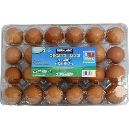 Picture of Kirkland Signature Organic USDA Grade AA Brown Eggs