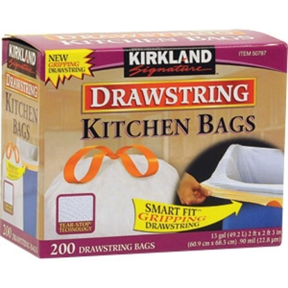 Picture of Kirkland Signature Drawstring Kitchen Bags