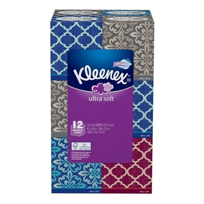 Picture of Kleenex Ultra Soft 3-Ply Facial Tissues