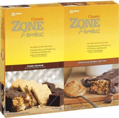 Picture of Zone Perfect Bars Variety Pack 24 Count 1.76 Oz Each