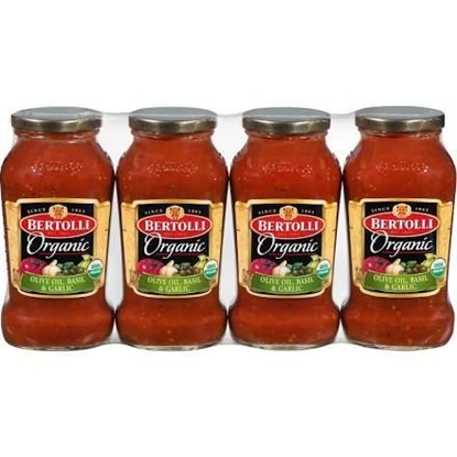 Picture of Bertolli Organic Pasta Sauce, 4 Pack - 24 Oz Each