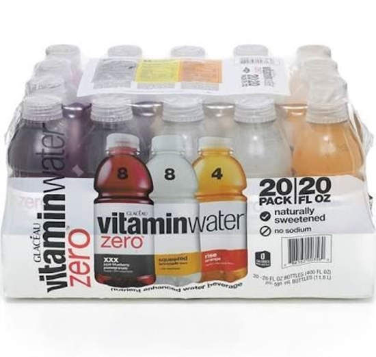 Picture of Glaceau Vitamin Water Zero Variety Pack 20/20 Oz