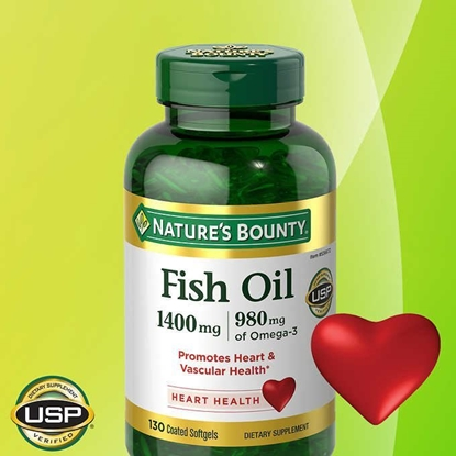 Picture of Nature's Bounty Fish Oil/自然之宝深海鱼油 1400 mg.