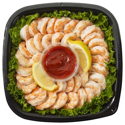 Picture of Kirkland Signature Shrimp Tray With Cocktail Sauce & Lemon
